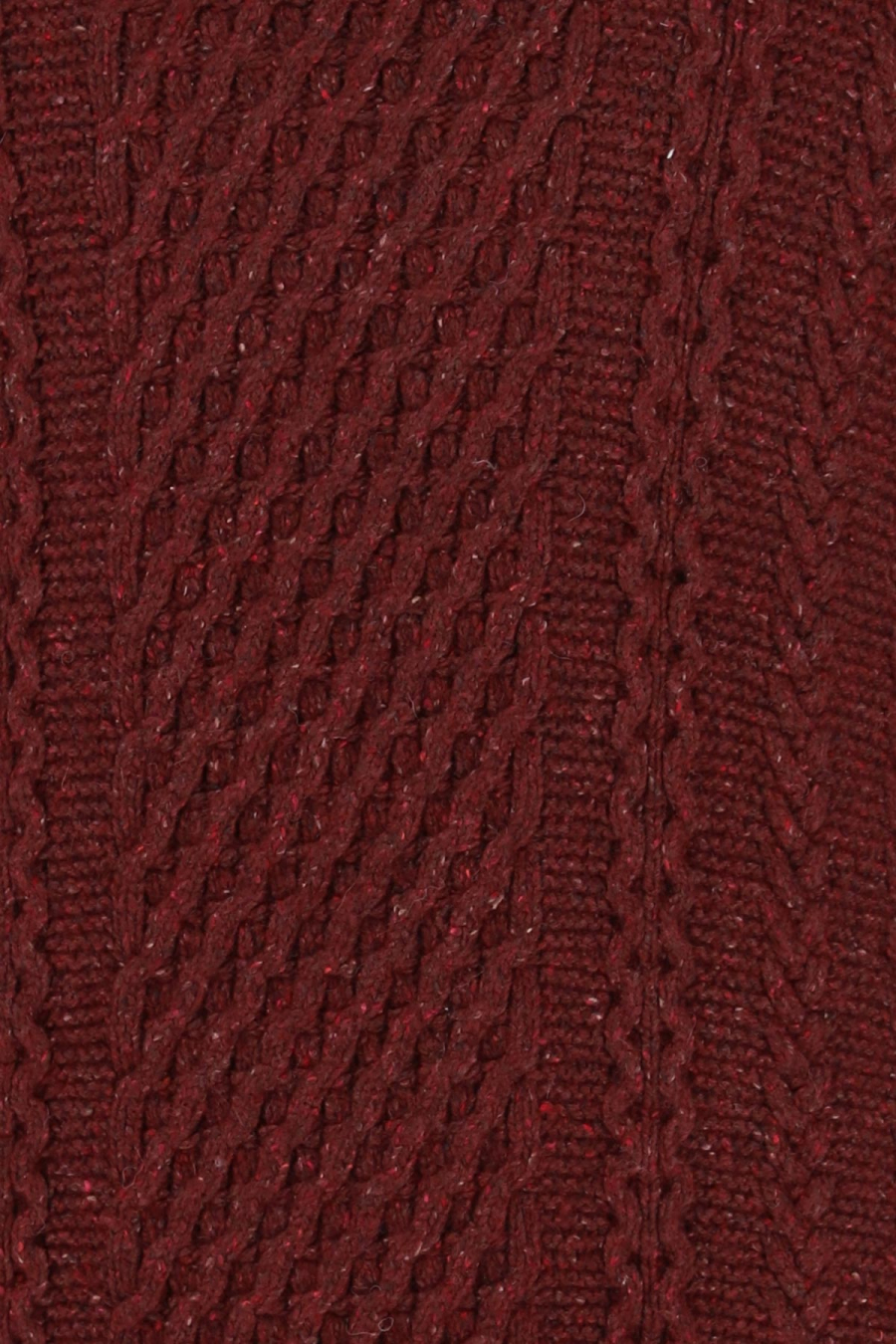 UNITED SWEATER ECOPLANET WOOL BLEND CORDOVAN