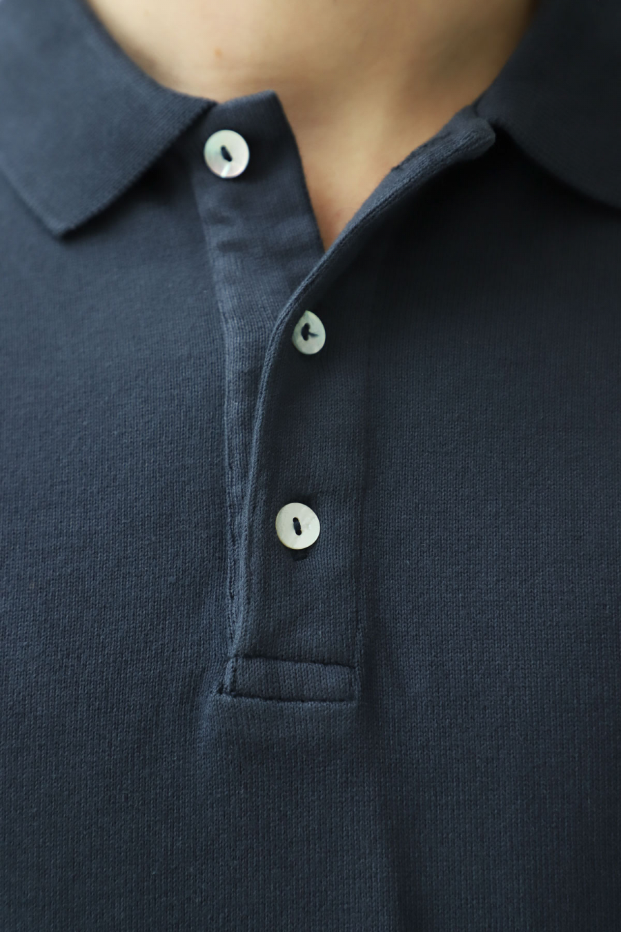 LONG SLEEVE POLO BLUE GRAPHITE
