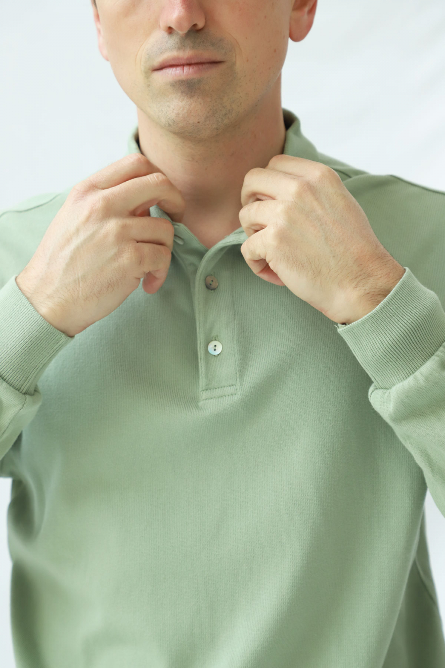 LONG SLEEVE POLO TEA