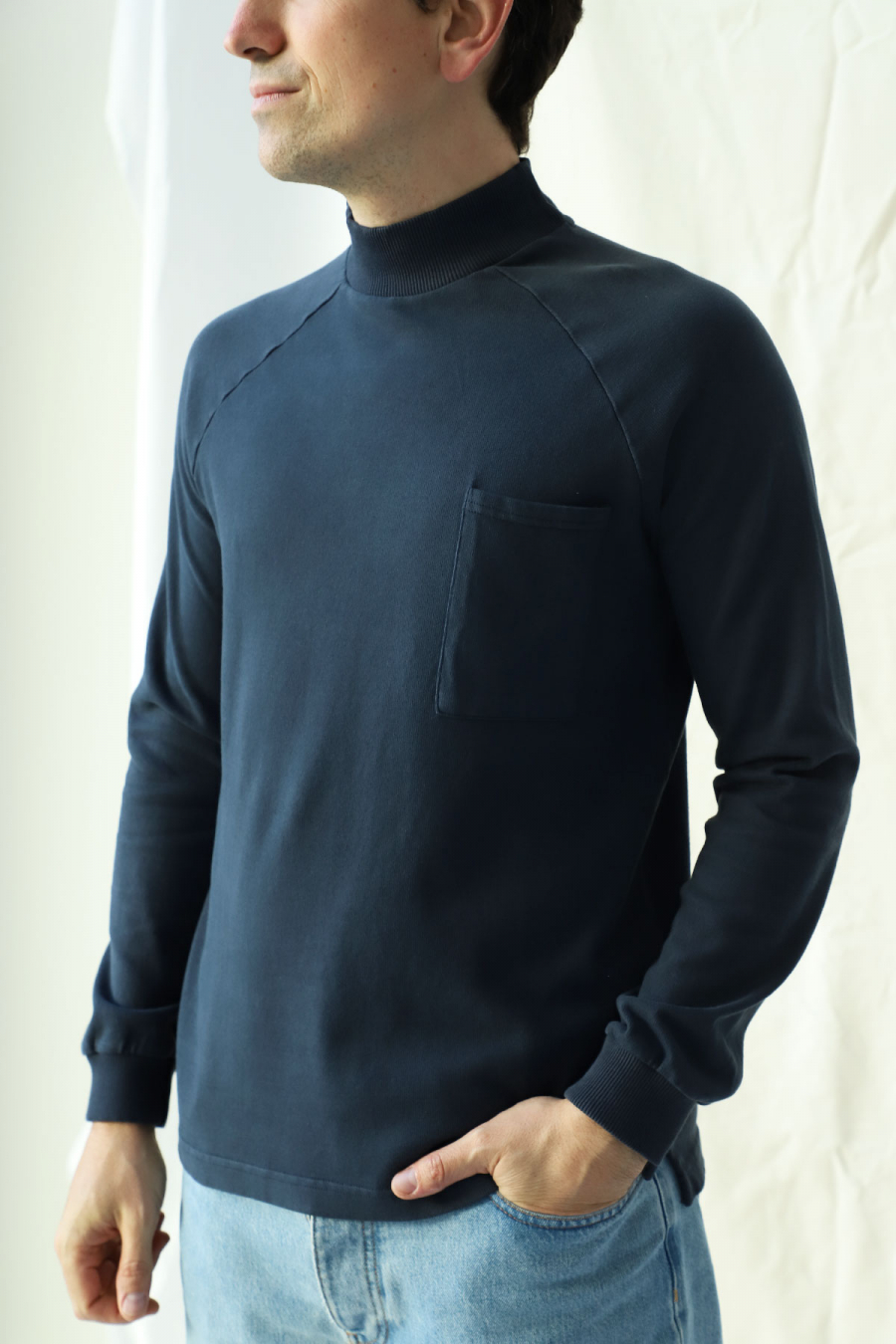 LONG SLEEVE T-SHIRT BLUE GRAPHITE