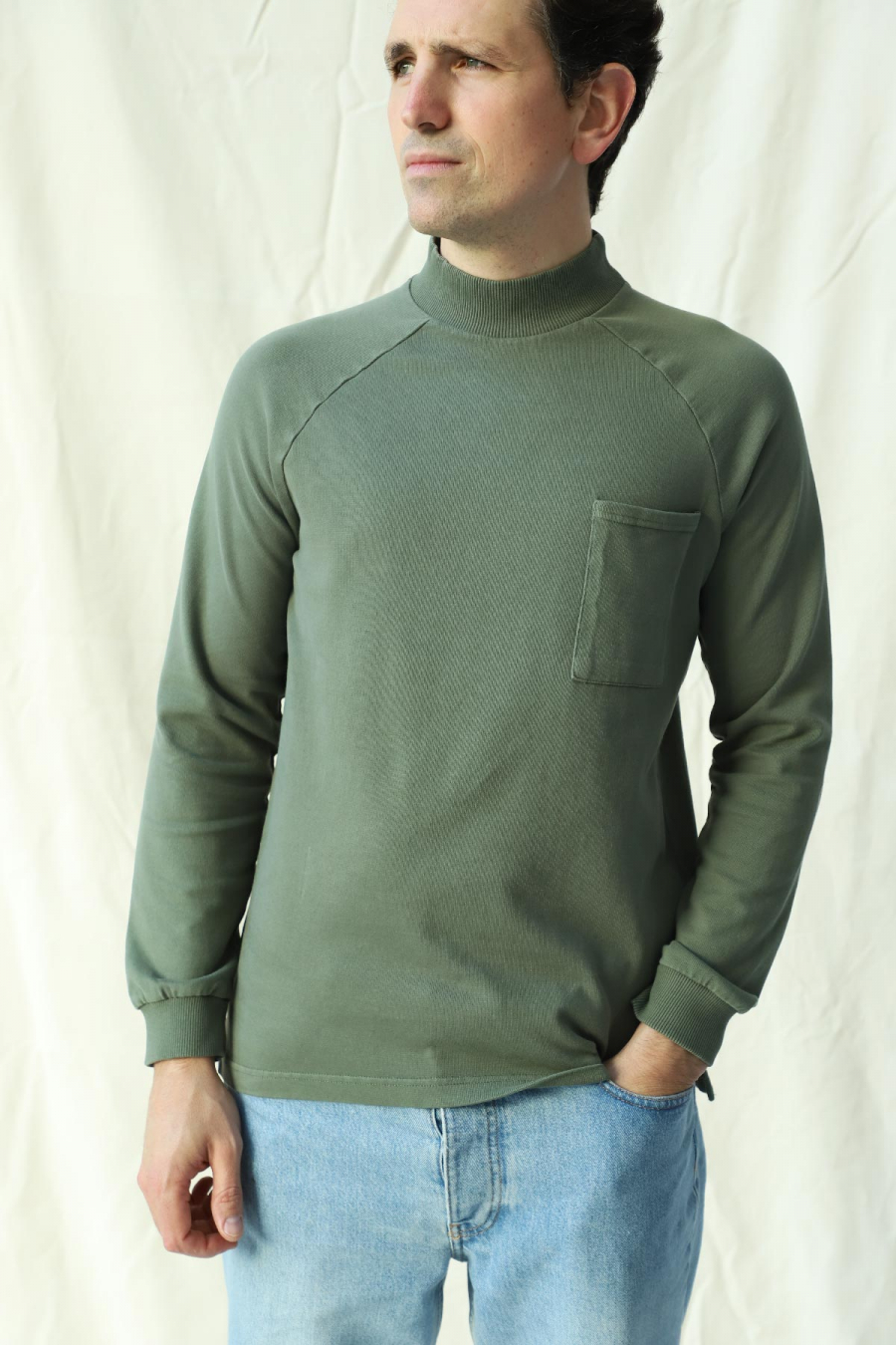 LONG SLEEVE T-SHIRT DUSTY OLIVE