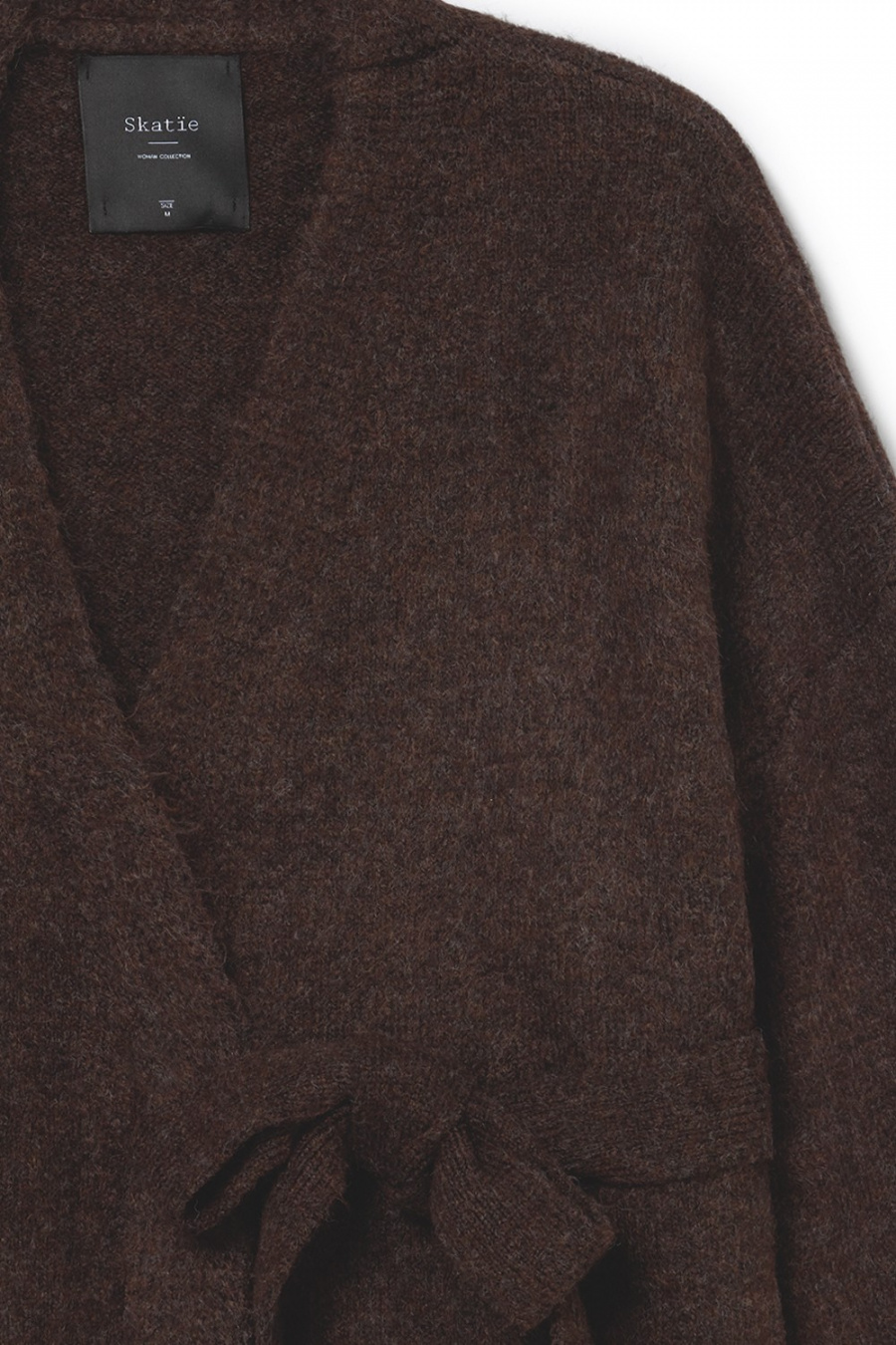 CARDIGAN CINTA MARRON