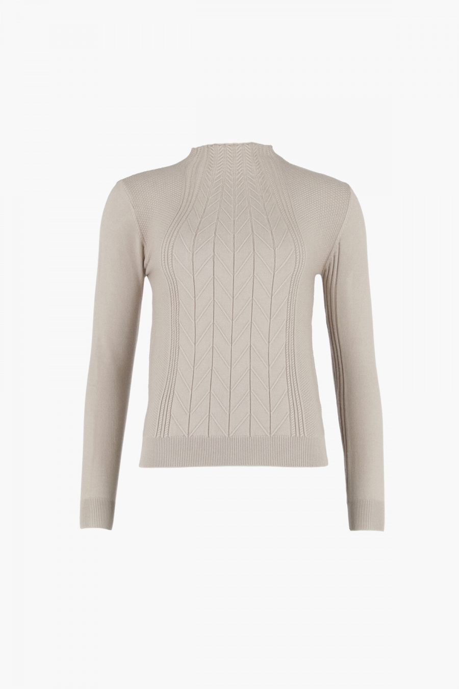 SWEATER CUELLO MOCK BEIGE